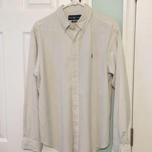Polo Ralph Lauren Men's White Dress Shirt Sz L